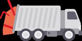 Icona pesatura a bordo per compattatori posteriori