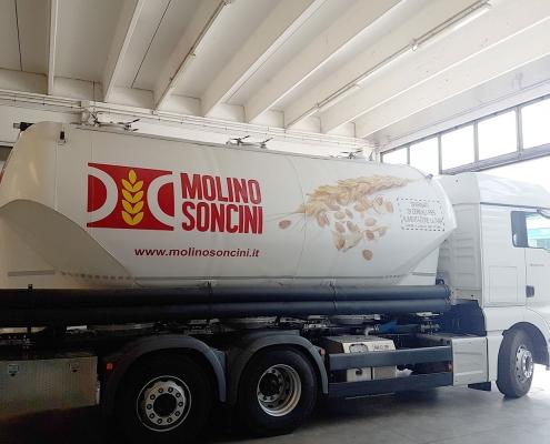 Cisterna cereali pesatura a bordo