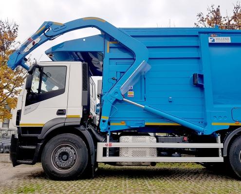 Front loader blu pesatura a bordo certificata