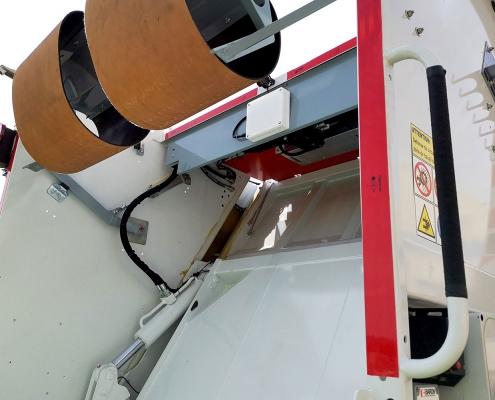 Dettaglio compattatore sistemi di pesatura a bordo
